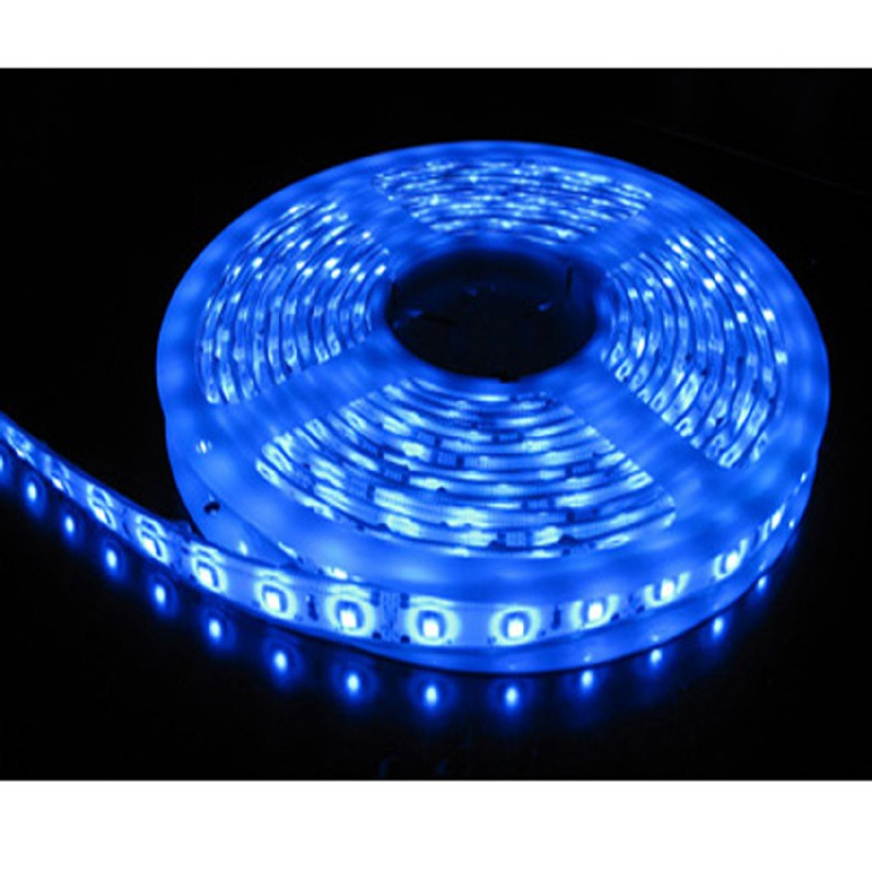 5M Single Colour Flexible LED 5050 SMD Lights IP65 WATERPROOF in BLUE