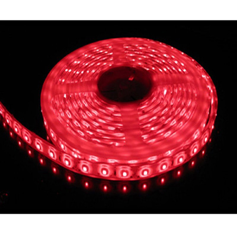 5M Single Colour Flexible LED 5050 SMD Lights IP65 WATERPROOF in RED