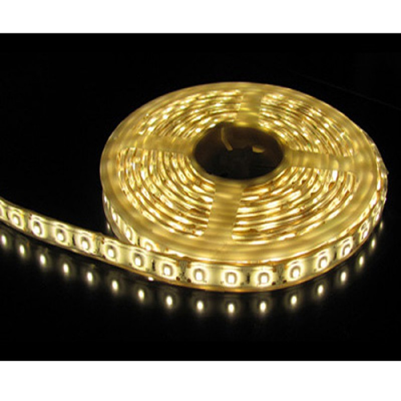 5M Single Colour Flexible LED 5050 SMD Lights 12V in WARM WHITE