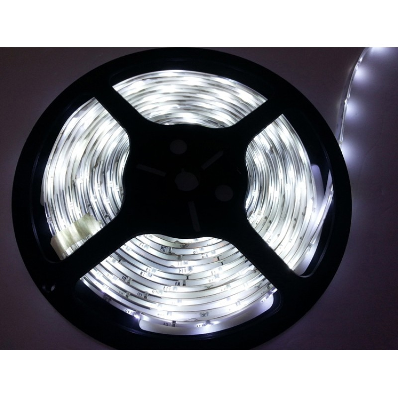 5M Single Colour Flexible LED 3528 SMD Lights IP21 in COOL WHITE 120/m with heavy duty 3M back tape