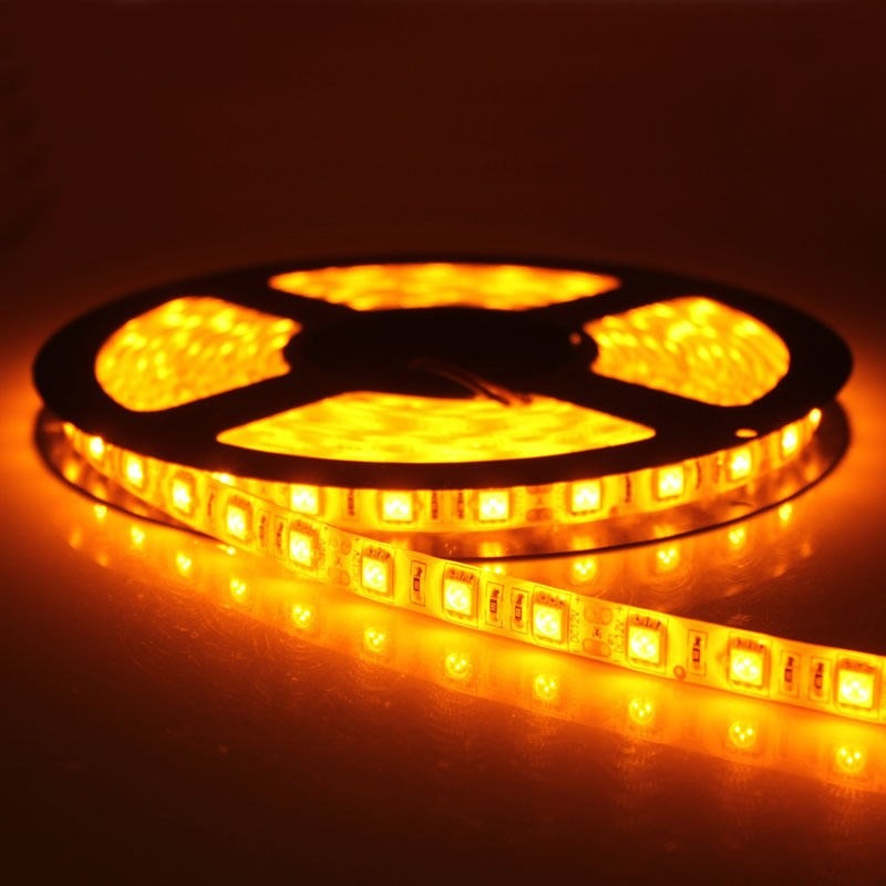 5M Single Colour Flexible LED 3528 SMD  Lights IP21 in YELLOW
