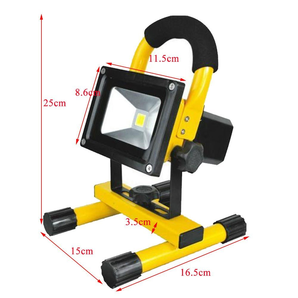 10w led portable rechargeable flood light with bracket in ...