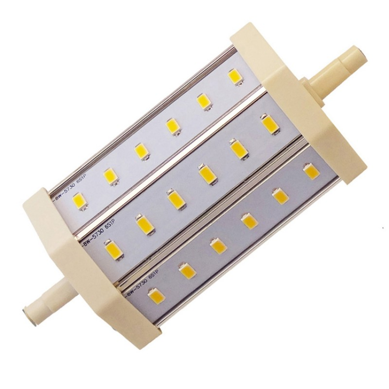 8W LED Bulb 85-265V AC replacement for J118 R7s Halogen Flood Lamp in Warm White 3000-3200K