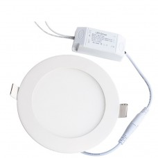 IP65 Waterproof 9W Round Recessed Ultra-slim Ceiling LED LED Light Lamp in Warm White
