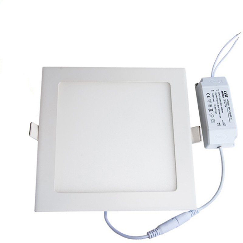 Dimmable 15W Square Recessed Ultra-slim Ceiling LED Light Lamp in Warm White