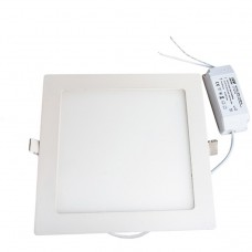 Dimmable 18W Square Recessed Ultra-slim Ceiling LED Light Lamp in Cool White