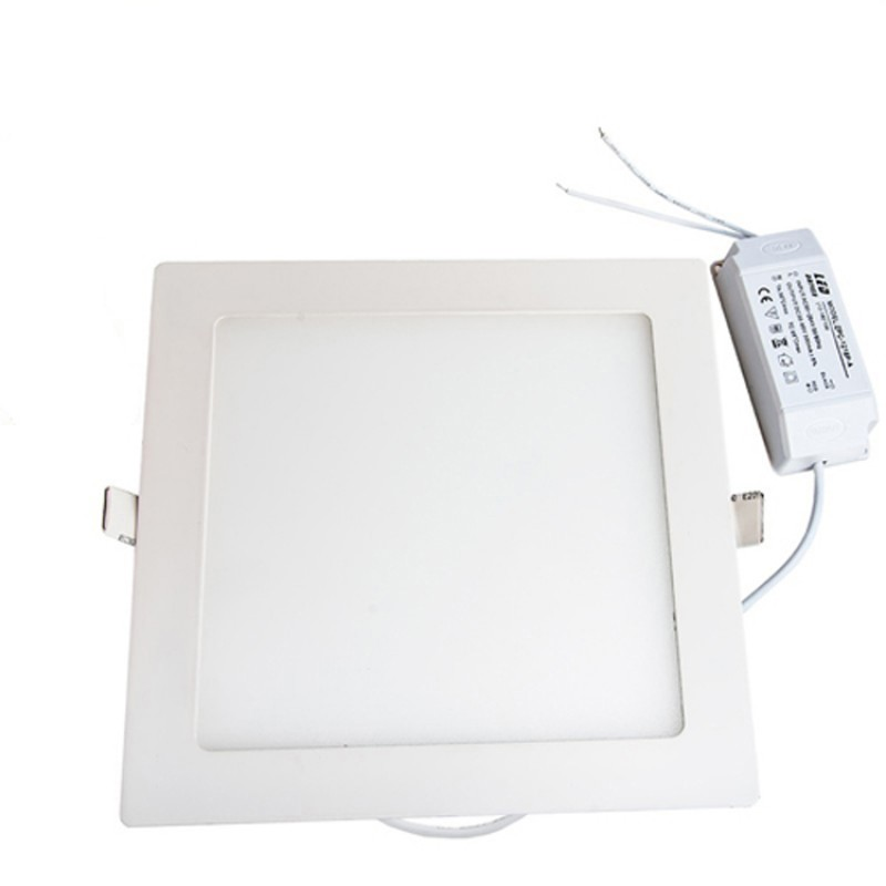 18W Square Recessed Ultra-slim Ceiling LED Light Lamp in Cool White