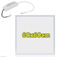 36W LED PANEL LIGHT RECESSED 600x600 CEILING MODULAR LIGHTS HOME OFFICE COOL WHITE 6000K