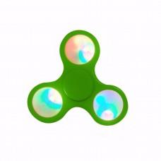 GREEN SPINNER LED FLASHING FIDGET HAND FINGER