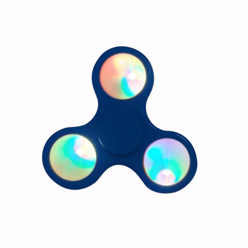 BLUE SPINNER LED FLASHING FIDGET HAND FINGER