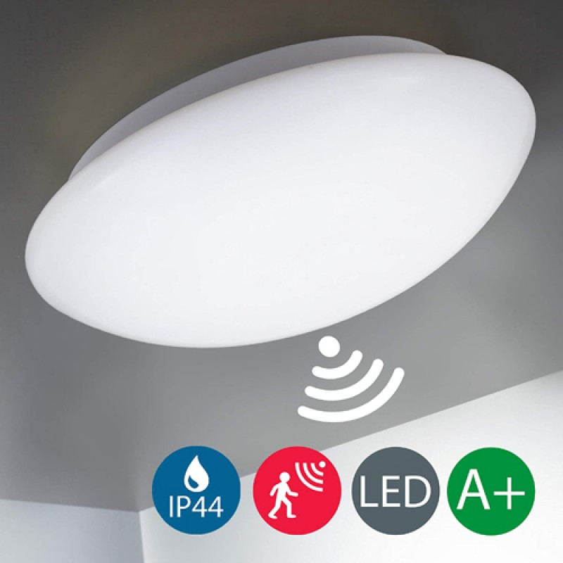 12W Radar Motion Sensor LED Downlight Surface Mounted Light Bathroom Lamp in Warm White 3200K