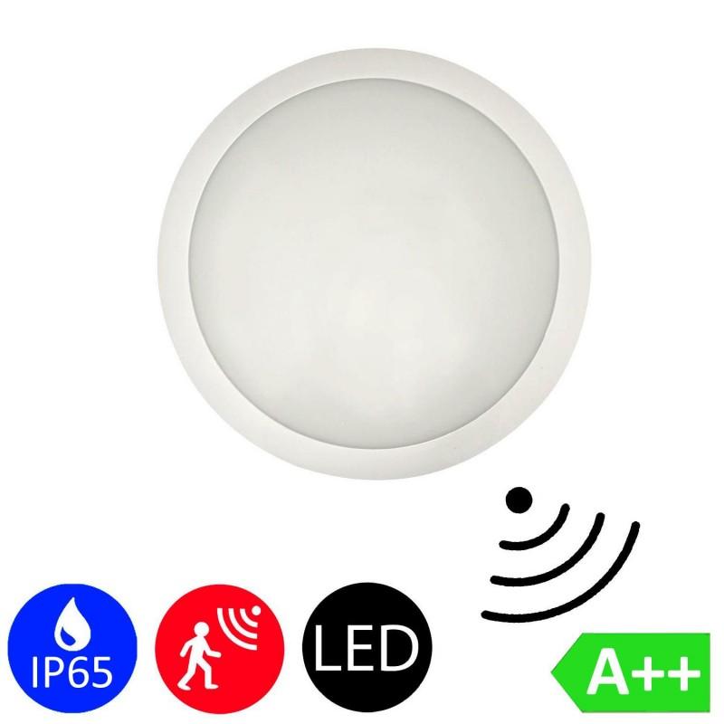 16W Radar Motion Sensor LED Downlight Surface Mounted Light Bathroom Lamp in Cool White 6000K