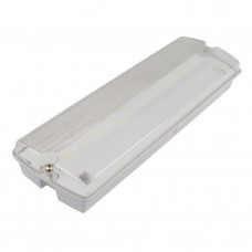 4.5W LED IP65  Emergency Non-Maintained Bulkhead Fire Safety Light Fitting with Exit Legends