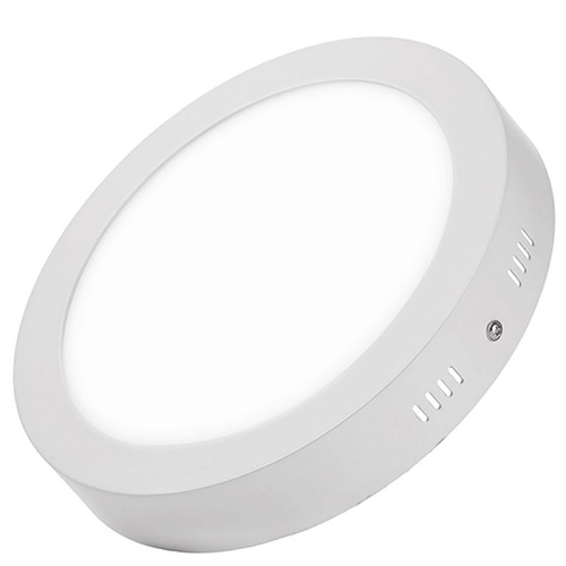 Dimmable 12W Round Surface Mounted LED light lamp in Cool White 6000-6500K
